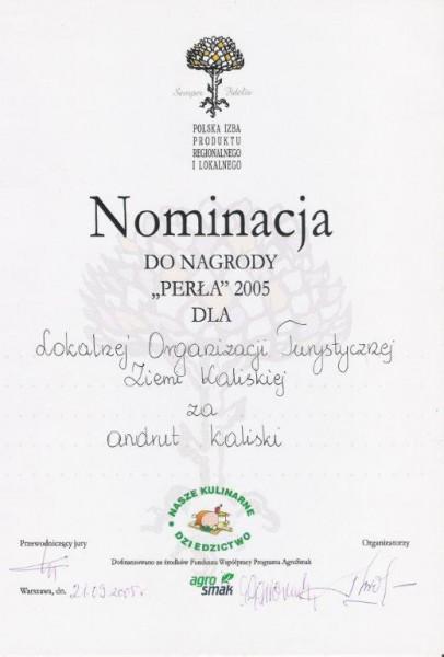 perła 2005 nominacja